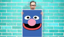 Grover Sesame Street Art - Wall Art Print / Poster   - Kids Children Bedroom Geekery